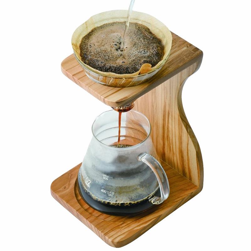 Standing drip alat kopi kayu