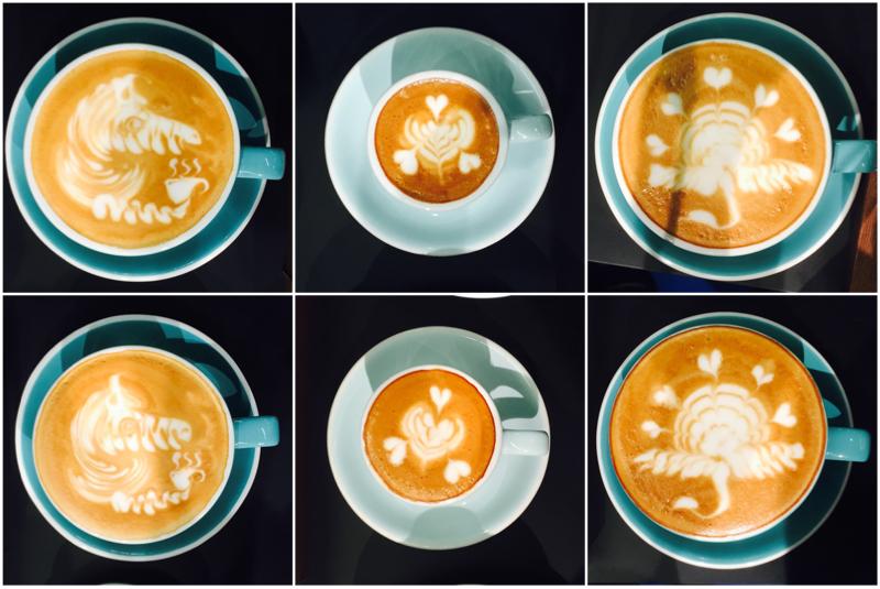 Top pours latte yang menjadikan Cha pemenangnya