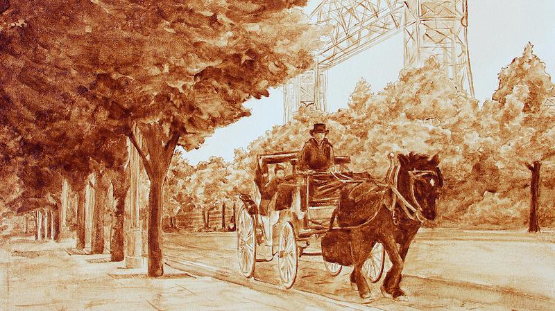 Serene Moment sebuah lukisan karya Angel Sarkela-Saur dan Andrew Saur.