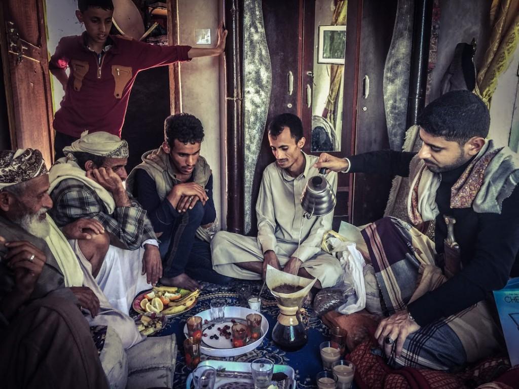 minum kopi di Yemen