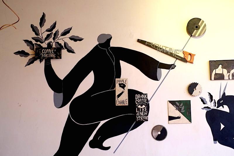 Instalasi seni yang menarik perhatian. Kece!