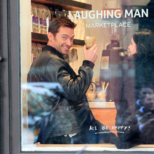 laughing man Hugh Jackman