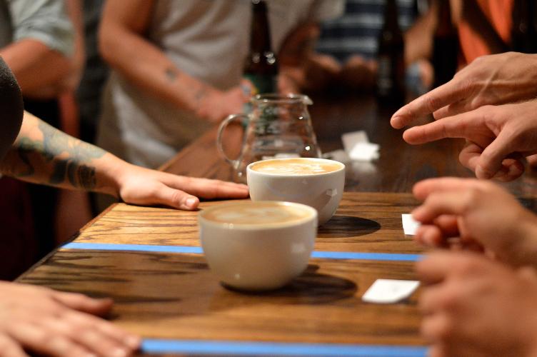 Latte art battle