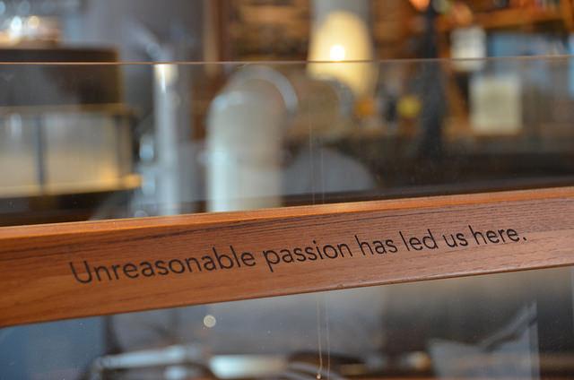 Slogan yang bagus dari Reserve Roastery & Tasting Room Starbucks di Seattle.